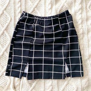 Brand New in the Bag Black Plaid SHEIN Mini Skirt